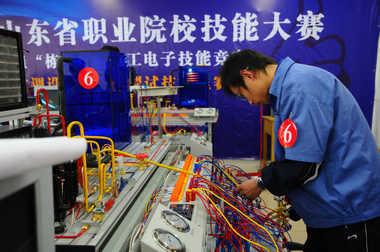 电工电子专业技能竞赛现场