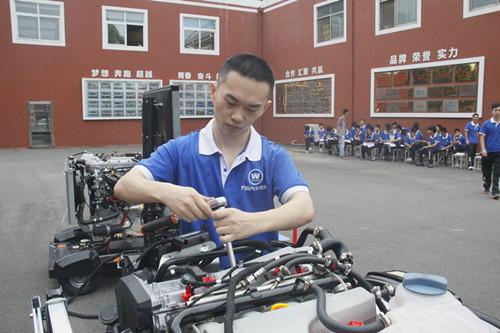 山东万通汽车学院:发动机气缸压力测量比赛开赛