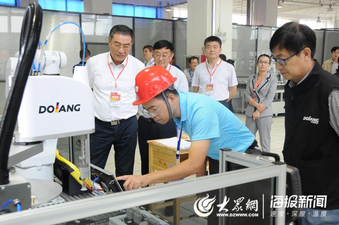 全国工业机器人技术应用技能大赛省选拔赛在济南市技师学院开赛