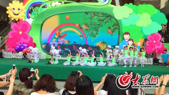 济南市槐荫区实验幼儿园舞蹈团的孩子们
