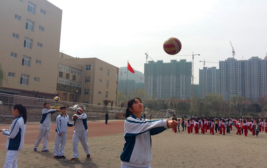 济南高新区第二实验学校体育训练备战中考