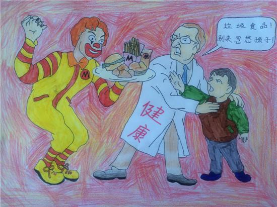 """高新区鸡山小学开展""""小手拉大手,共建食品安全校园""""主题活动图片"""