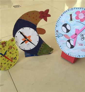 兒童手工diy制作鐘表